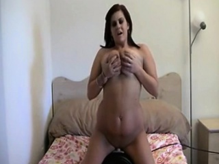 Sybian ride Canadian mom Gwen