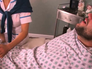 Mature Asian nurse fucks the in-patient