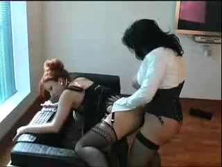 Big titted matures strapon sex