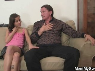 Lascivious GF jumps on her BF's daddy schlong