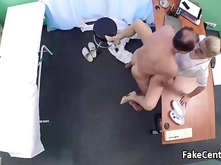 Doctor fucks milf nurse in hospital