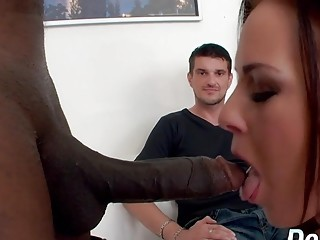 Lamer spouse watches His wifey Alicia Jones Being rode by a ebony bone
