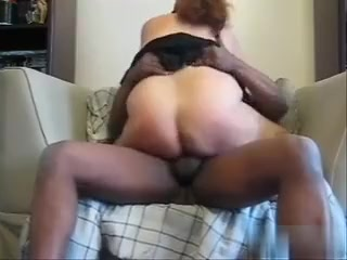 Granny is riding my long black dick with passion. Her big ass is facing the camera in our amateur .