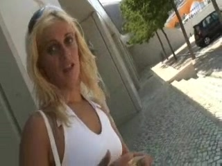 blonde milf fucking with chubby guy