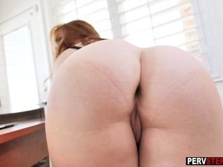 Nasty ginger-haired cougar step-mother helps a son about future