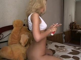 Nasty cougar doing assfucking getting off
