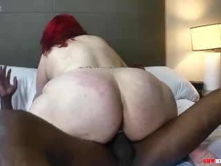 Mr Stixx Gets deep in mature phat ass white girl arse on BBWHighway.com