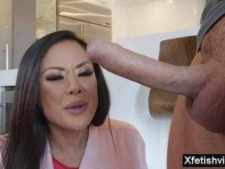 Chinese cougar enjoys ginormous man-meat