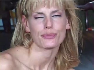 Blond mother i'd like to fuck Darryl Hannah receive Drilled In The Kitchen Clip
