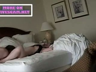 Motel spy web cam huge-chested plus-size cougar is a super-steamy plow