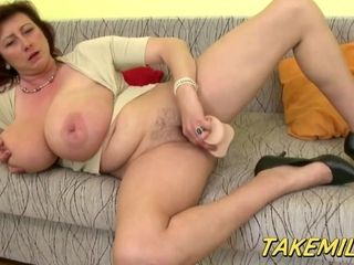 Huge-chested mommy In Law fumbles Her puss