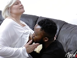 AgedLovE Lacey Starr gets bi-racial hard-core