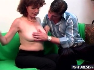 Lovely Linda Strips For Young Man