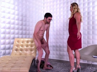Hot pornstar ballbusting added to cumshot