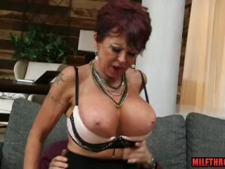 Ample udders cougar lovemaking with money-shot