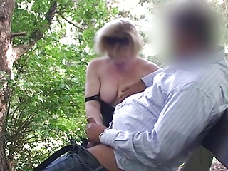 Horny sexy mom with milky tits