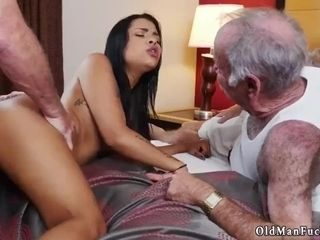 Wait dad and antique older stud youthfull doll Staycation with a brazilian ultra-cutie