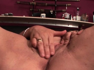 Mature sex addict loves playing with sex toys