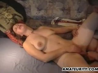 Unexperienced cougar played and smashed firm with jizz flow