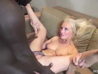 GERMAN cougar KACY GET big trunk nail AND internal ejaculation BY big black cock