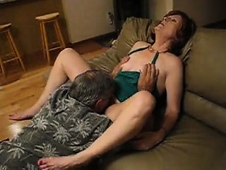 Aged man that is adult provides vagina licking pleasure