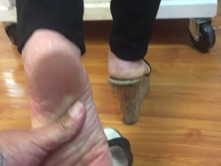 Kim mature soles shoe play