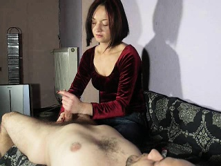 Lucky guy has his gorgeous redhead wife driving his shaft t