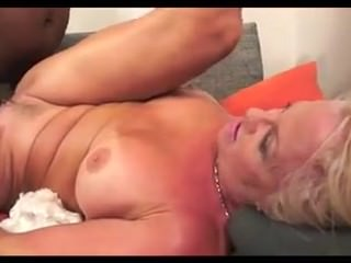 Granny takes BBC in her ass and gets a tasty treat at the end