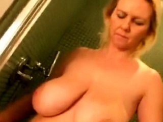 Broad in the beam bosom grown up Showering coupled with Drying stay away from