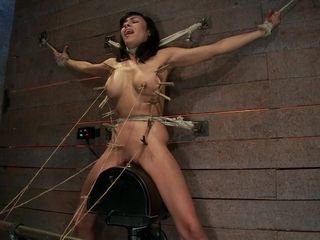 Nips Pull 1 Way, Neck string Pulls The Other. 2 Options: sigh Or endure. All While spunking. - hog-tied