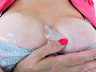 Dame Sonia caresses her puffies with ice cubes