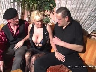 Huge-boobed matures three way with bicurious folks