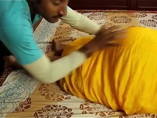 Warm indian masala aunty romance with step son-in-law