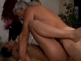 Old granny solo After an grueling lesson the 2 get highly at