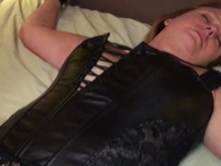 Wife spreads legs in thigh high boots