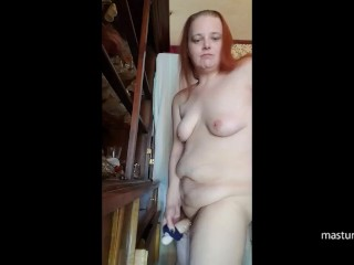 Russian mommy Olga smashes her fuck stick