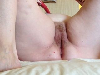 My chubby mature wife loves to use her dildo for her wet cunt