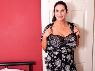 This fat boobed milf is getting raw and insatiable
