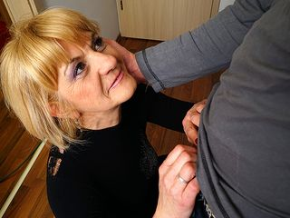Super-naughty mature female doing her toyboy