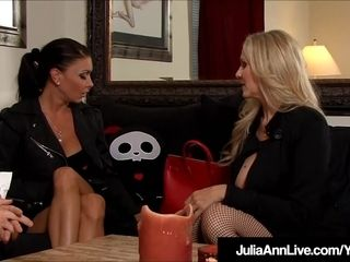 Mummies Julia Ann & Jessica Jaymes corded Up & boinked!