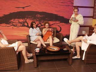 Mature nymphs lovimg to relax and loosen