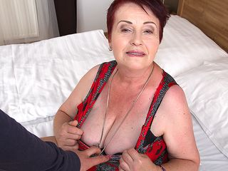 Obese fur covered mature female getting smashed in pov style