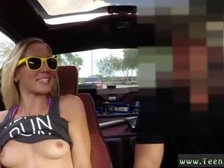 Parent and playmate's stepdaughter public blondie bimbo attempts to sell camper,