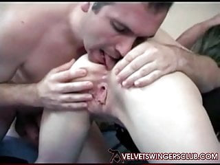 Velvet Swingers pub fledgling 3 way fuck-a-thon Real homemade