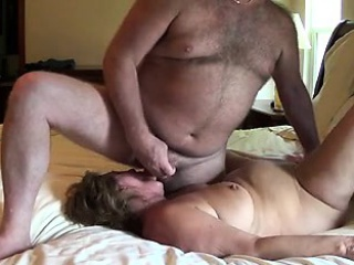 With man cumming on her face mature cums