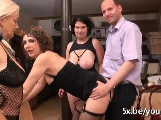 Regina invited her 2 friends into her restaurant for an orgy
