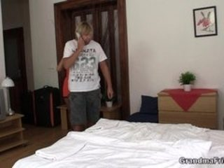 Hot old mom threesome sex