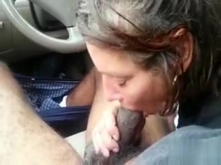 Milky mature puss takes dark-hued sausage in the camper