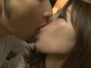 Alluring Japanese AV Model is a hot mature babe getting licked