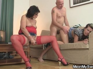 This Babe discharges porn with her BF's parents